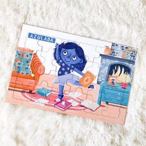 puzzle azulada