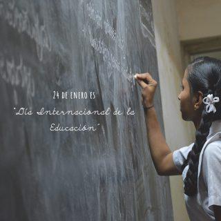 """Hoy 24 de enero esDía Internacional de la Educación establecido por @unesco Un día que busca visibilizar la importancia de contar con una educación universal de calidad. La educación no es sólo un derecho, sino una herramienta imprescindible para generar cambios que mejoran la vida de las personas. Conseguir un mundo pacífico, justo y sostenible. """"La educación es el arma más poderosa que puedes usar para cambiar el mundo"""" Nelson Mandela. Sin una educación de calidad, inclusiva y equitativa para todos y todas, con oportunidades de aprendizaje a lo largo de toda la vida, los países no lograrán alcanzar la igualdad de género ni romper el ciclo de pobreza que deja rezagados a millones de niños, jóvenes y adultos. ODS4 (Unesco) La educación juega un papel protagonista en el principal caminode cambio, soy feliz aportando un granito de arena en este camino. 💛 """"Feliz dia de la educación"""" 📷@kryptonitenicky"""